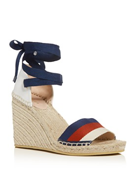 Gucci - Women's Ankle-Tie Platform Wedge Espadrille Sandals