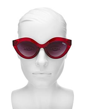 Quay - Women's Goodnight Kiss Oval Sunglasses, 59mm