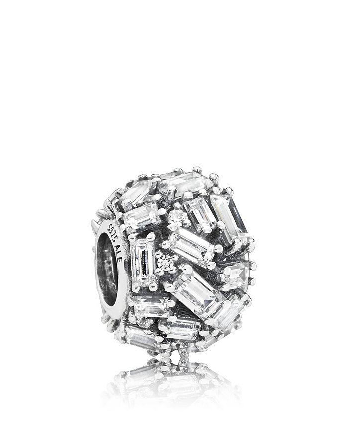 Pandora - Sterling Silver & Baguette Cubic Zirconia Chiseled Elegance Charm