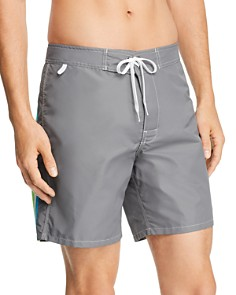 SUNDEK - Back-Striped Swim Trunks