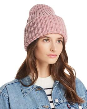 AQUA - Metallic Rib-Knit Beanie - 100% Exclusive. Quick View 5a392a0c4086