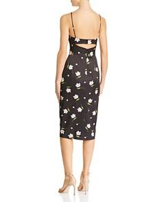 MILLY - Uma Cutout Sweetheart Midi Dress