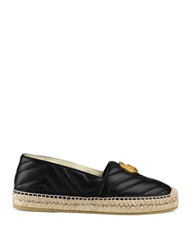 Gucci - Women's Pilar Double G Leather Espadrilles
