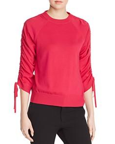 Elie Tahari - Adesina Drawstring Sleeve Sweater