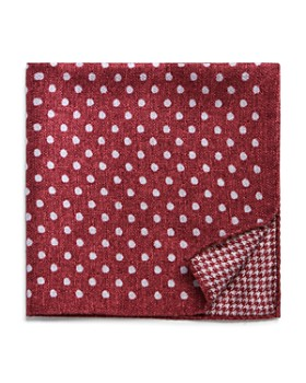 The Men's Store at Bloomingdale's - Dot/Houndstooth Reversible Pocket Square - 100% Exclusive