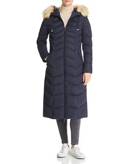 T Tahari - Jacqueline Faux Fur Trim Maxi Puffer Coat