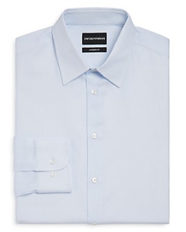 Armani - Micro-Checked Regular Fit Dress Shirt