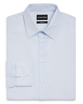 Armani - Micro-Checked Regular Fit Dress Shirt