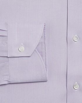 Canali - Micro-Textured Solid Regular Fit Dress Shirt