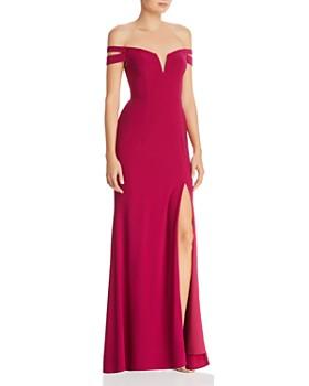 535a9b36302d AQUA - Off-the-Shoulder Gown - 100% Exclusive ...