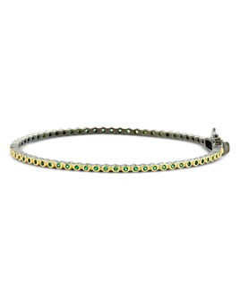 Freida Rothman - Color Pavé Bangle Bracelet in Black Rhodium-Plated Sterling Silver & 14K Gold-Plated Sterling Silver
