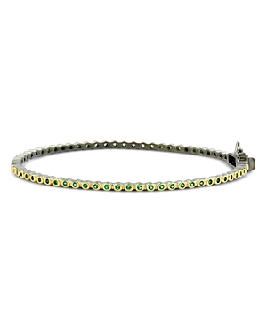 Freida Rothman Color Pave Bangle Bracelet in Black Rhodium-Plated Sterling Silver & 14K Gold-Plated Sterling Silver