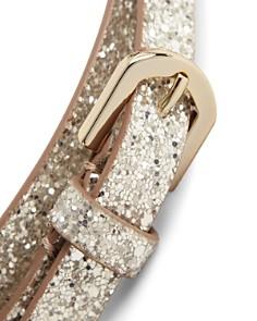 REISS - Rose Glitter Leather Belt