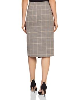 REISS - Jasmine Checked Wrap Skirt