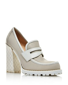 Bottega Veneta - Women's High Block-Heel Loafers