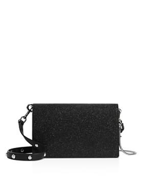 ALLSAINTS - Sid Glitter Leather Chain Wallet