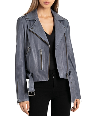 Bagatelle.nyc BAGATELLE. NYC PEBBLED LEATHER BIKER JACKET