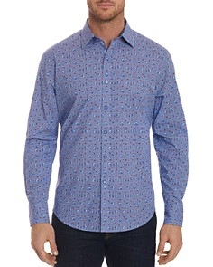 Robert Graham - Shinto Dragon-Printed Plaid Classic Fit Shirt