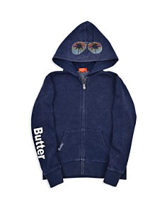 Butter - Girls' Embellished Fleece Vacay Hoodie - Little Kid, Big Kid