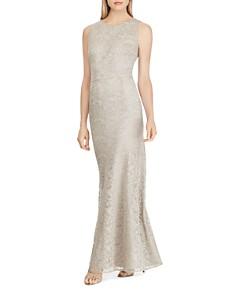 Ralph Lauren - Embroidered Mesh Gown