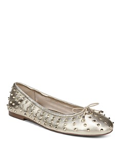 Sam Edelman - Women's Fanley Studded Leather Ballet Flats