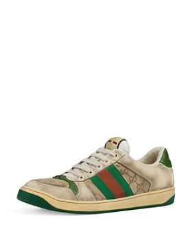 aa185ad25ee Gucci - Men s Distressed GG Supreme Canvas   Leather Lace-Up Sneakers ...