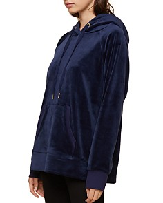 Juicy Couture Black Label - Luxe Velour Hooded Sweatshirt