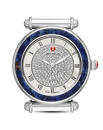7ae236f5b MICHELE Caber Lapis Diamond Dial Watch Head, 37mm | Bloomingdale's