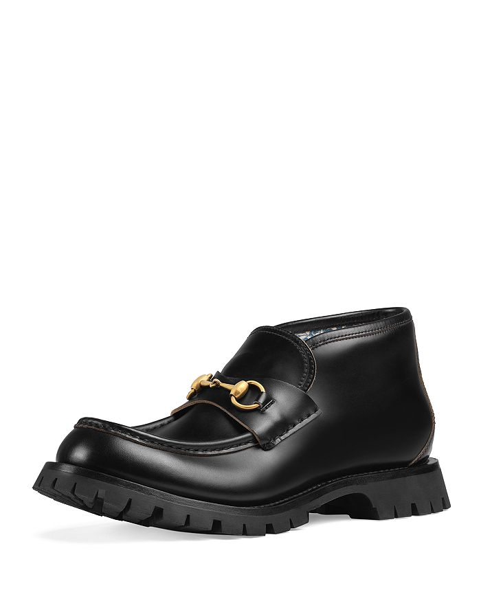46c94354ae1 Gucci - Men s Leather Apon-Toe Ankle Boots