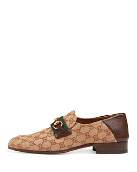 Gucci - Men's GG Supreme Canvas Horsebit Loafers