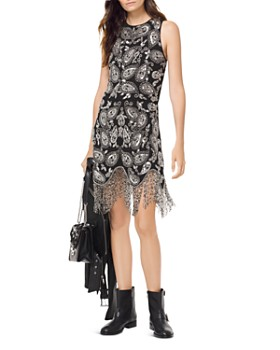 MICHAEL Michael Kors - Paisley Embellished Fringe Dress