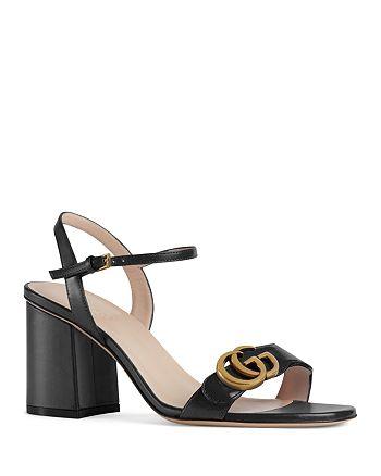 Gucci - Women's Marmont Double G Mid-Heel Sandals