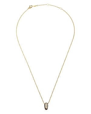 Nadri Como Small Pendant Necklace in 18K Gold-Plated Sterling Silver & Black Ruthenium-Plated Sterling Silver, 16