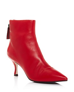 Stuart Weitzman - Women's Juniper 70 Leather Pointed Toe Booties