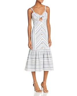 Red Carter - Madelyn Stripe Tie-Front Dress
