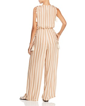 Coolchange - Taryn Striped Jumpsuit Swim Cover-Up