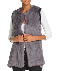 525 America - Knit-Back Real Rabbit Fur Vest