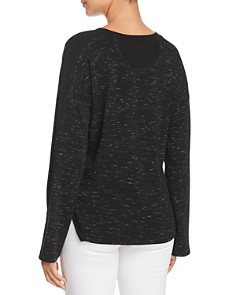 Red Haute - Space-Dye Drop Shoulder Sweatshirt