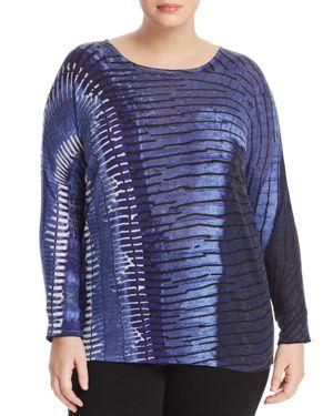 Nic+Zoe Plus Tie-Dye Stripe Sweater