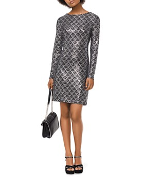 MICHAEL Michael Kors - Glitter Scallop Print Dress