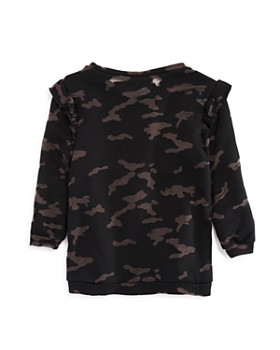 Generation Love - Girls' Lola Camo-Print Burnout Sweatshirt - Little Kid, Big Kid