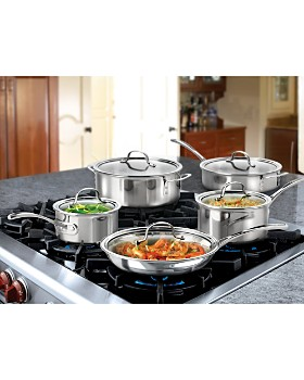 Calphalon - Tri-Ply Stainless 10-Piece Set
