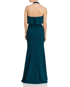 AQUA - Crepe Halter Popover Gown - 100% Exclusive
