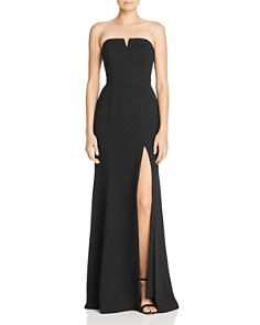 AQUA - Strapless Crepe Gown - 100% Exclusive