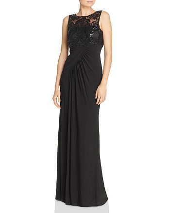 Eliza J - Embellished Draped Gown
