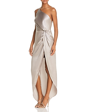 Michelle Mason SILK TWIST-FRONT GOWN