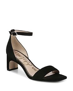 Sam Edelman - Women's Holmes Suede Block Heel Sandals