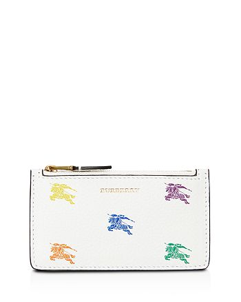 Burberry - Equestrian Knight Top-Zip Leather Card Case
