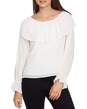 1.state Embroidered Overlay Top