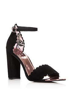 Ted Baker - Women's Raidha Scalloped High Block-Heel Sandals